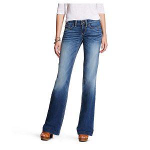 Ariat Ladies Baseball Stitch Wide Leg Trouser Jean Ariat #10021883