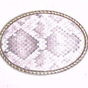 Genuine Rattlesnake Belt Buckle