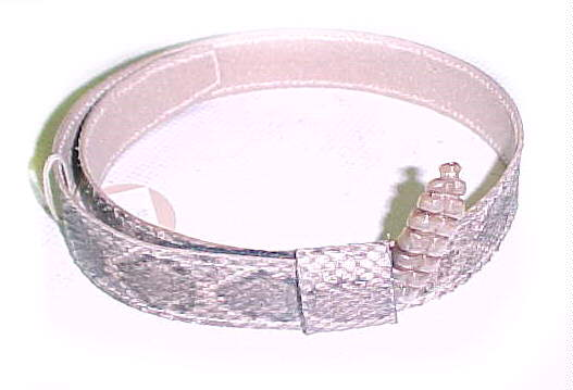 Genuine Rattlesnake hatband with Rattle