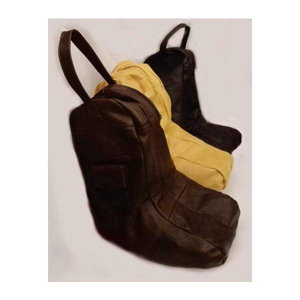 Handmade All Leather Boot Bag