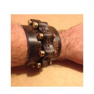 Handmade Genuine Leather Bullet Wristband/Bracelet CuffistbandBracelet Cuff