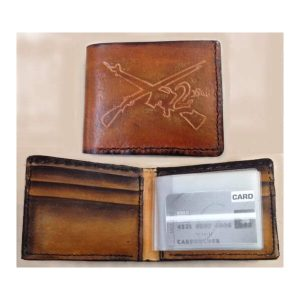 Handmade Wallet Genuine Leather 2nd Amendment Wallet