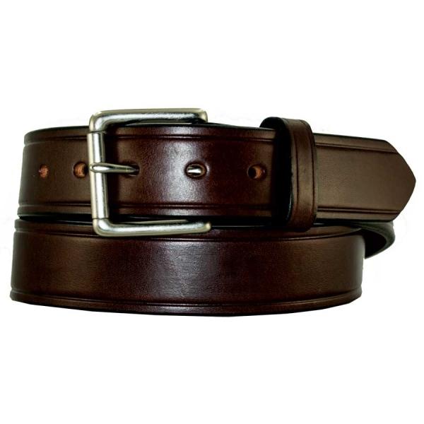 Handmade Waxed Heavy Dark Brn Leather Belt High Quality WorkCasual Belt