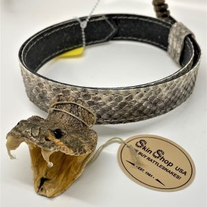 Genuine Rattlesnake Head and Rattle Hatband