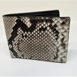 Genuine Python snake-skin bi-fold wallet.