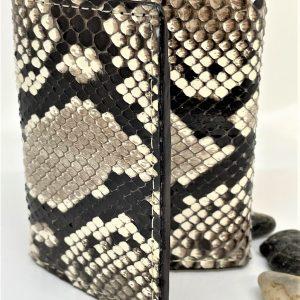 Genuine Python snake-skin tri-fold wallet.