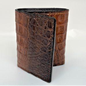 Genuine Crocodile Tri-fold Wallet