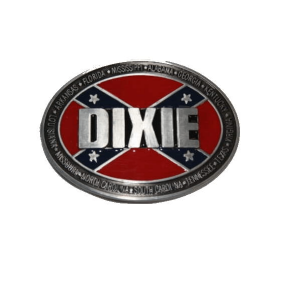 Belt Buckle Confederate Flag Dixie