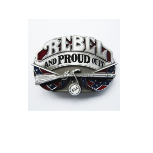 Belt Buckle Confederate Flag Proud