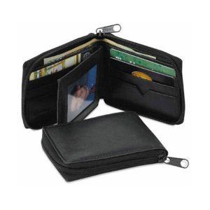 Wallet Leather Zip around billfold Bi fold