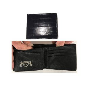 Wallet Bi-Fold Genuine EEL in Black