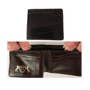 Wallet Bi-Fold Genuine EEL in Brown