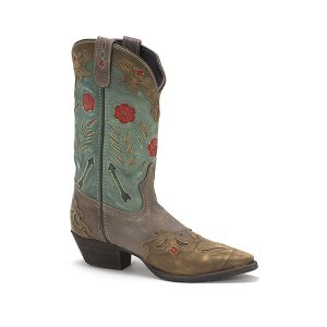Laredo Boots Miss Kate Brown/Turq. Boot All Leather