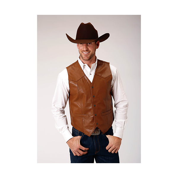 Men's Goat Leather Vest