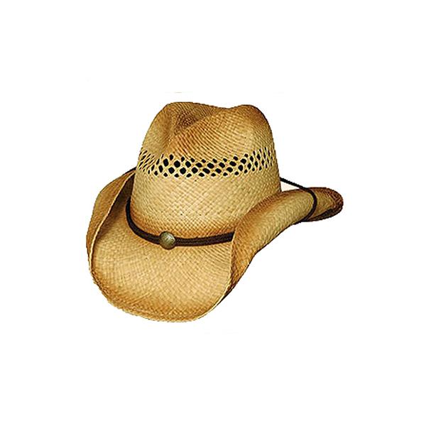 The Blaze weathered Crushable raffia straw cowboy hat