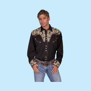 scully-gunfighter-embroidered-shirt