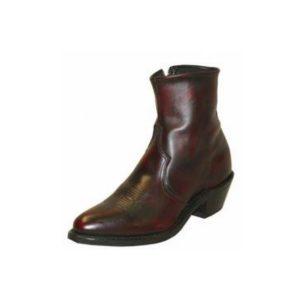 Made in USA Abilene Short Zipper Boot Black Cherry