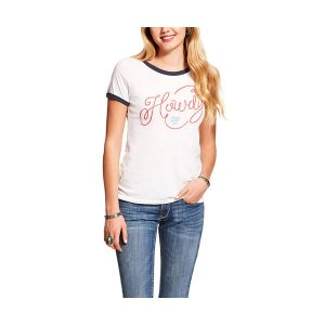 Ariat Ladies Stars and Stripes White/Red Heather T Shirt