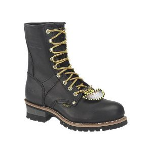 Work Logger Boots Steel Toe Black Lace