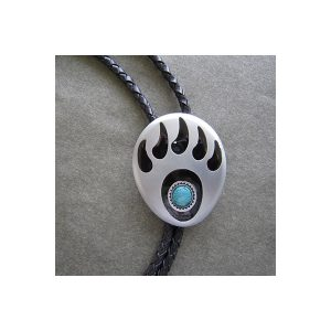 Vintage Turquoise Bear Claw Bolo Tie