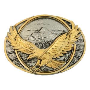 Montana Silversmiths Soaring Eagle Two Tone Attitude Belt Buckle
