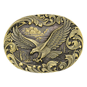 Montana Silversmiths Soaring Eagle Filigree Heritage Attitude Belt Buckle