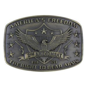 Montana Silversmiths 2nd Amendment Heritage Attitude Buckle