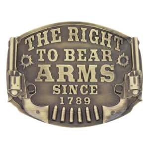 Montana Silversmiths Right to Bear Arms Belt Buckle