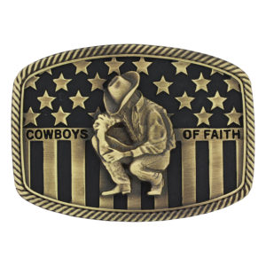 Montana Silversmiths Cowboys of Faith® Heritage Flag Attitude Buckle