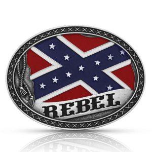 Montana Silversmiths Southern Rebel Flag Attitude Buckle