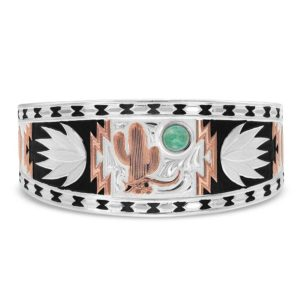 Montana Silversmiths Desert Serenade Cactus Cuff Bracelet