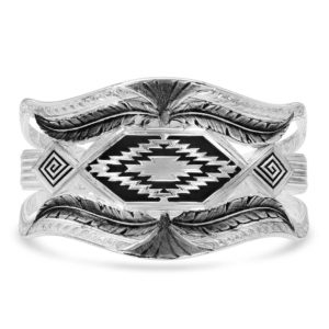 Montana Silversmiths Courage & Strength Feather Cut-Out Cuff Bracelet