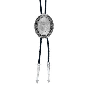 Montana Silversmiths Southwestern Rancher's Bolo Tie in Antiqued Silver