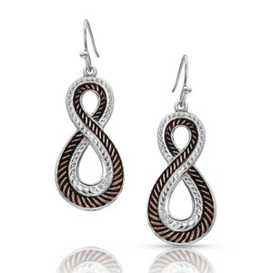 Montana Silversmiths Rose Gold Hope Rope Earrings