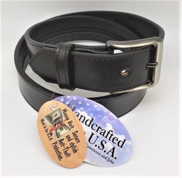 Handmade Black Money Belt