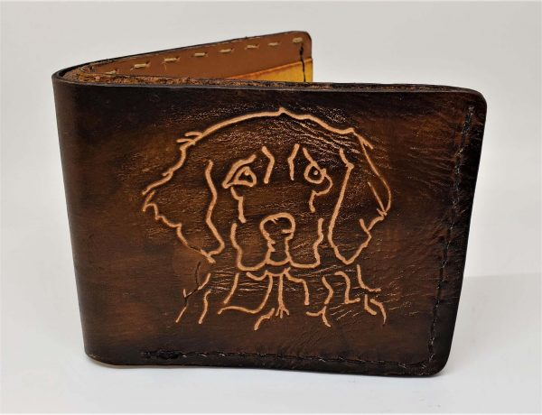 Golden Retriever Handmade Bifold Wallet
