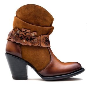 Los Altos Honey Round Toe Ankle Boot