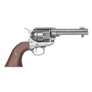 Replica M1873 Nickel Finish Quick Draw Revolver Non-Firing