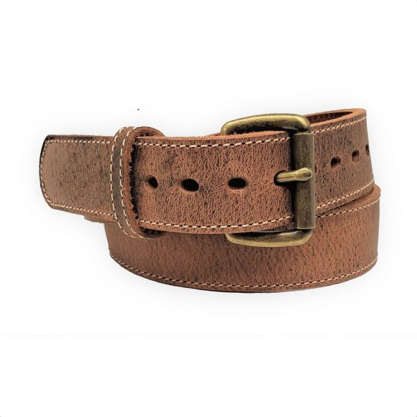 Handmade Steelcore Leather Holster Belt Distressed Brown