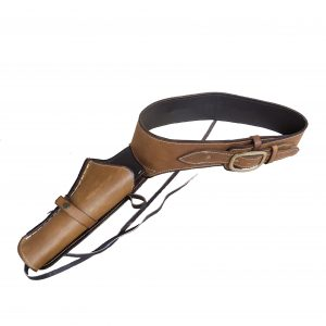 Genuine Leather Gun Belt & Holster