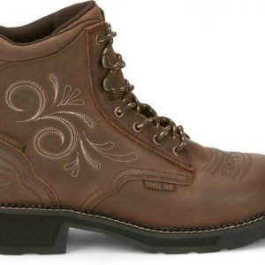 "Ladies 6"" Katerina Lace Up Steel Toe"