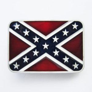 Vintage Western Confederate Flag Belt Buckle