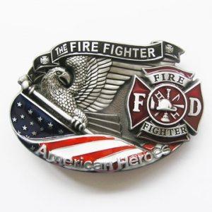 Vintage Western Fire Fighter Belt Buckle