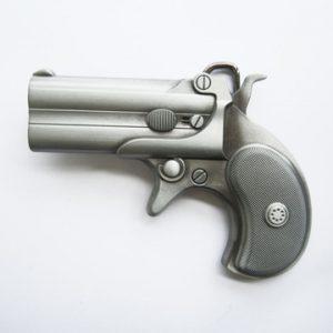Western Revolver Belt Buckle