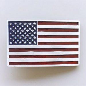 Western US Flag Belt Buckle