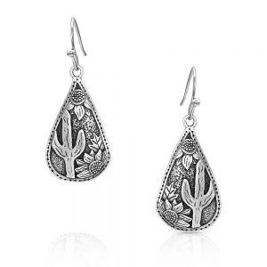 Montana Silversmiths Cradled Cactus Earrings