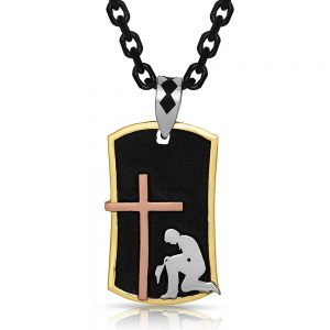 Montana Silversmiths Cross Dog Tag