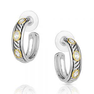 Montana Silversmiths Inset Hoop Earrings