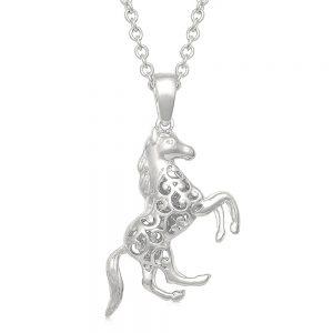 Montana Silversmiths Rearing Horse Necklace