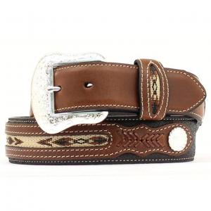 Nocona Fabric Inset Belt